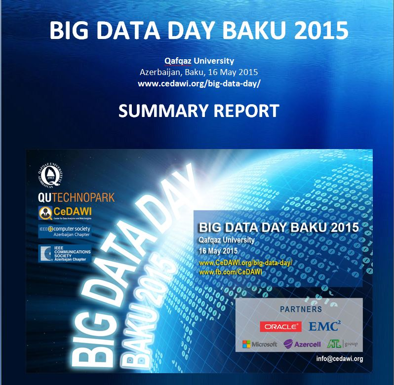 Big Data Day Baku 2015 - SUMMARY REPORT