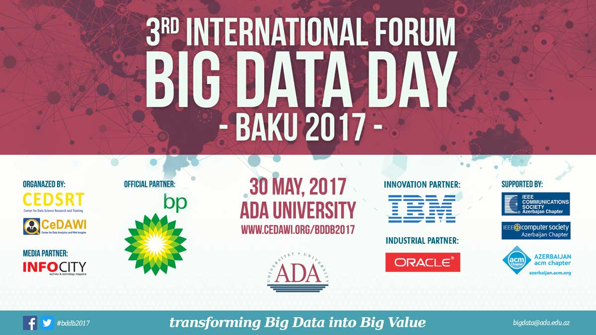 3rd International Forum BIG DATA DAY BAKU 2017 - BDDB2017
